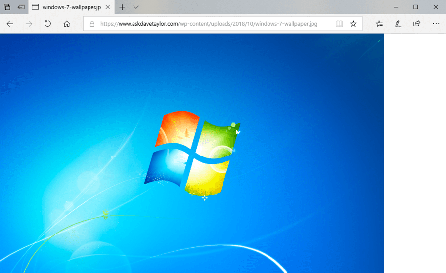 add windows 7 wallpaper