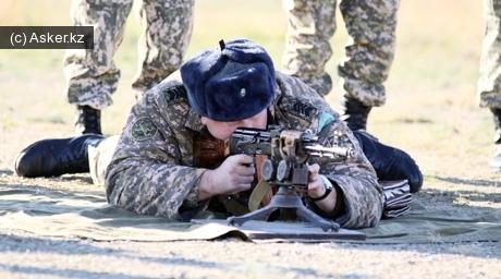 Огневая подготовка военнослужащих Казахстана