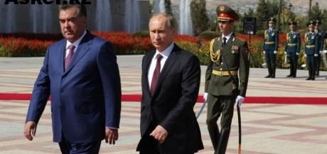 Президент России Владимир Путин и президент Таджикистана Эмомали Рахмон