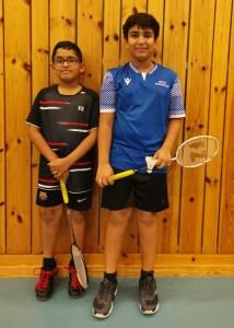 Shreyas og Shravan kjempet mot hverandre i U13HSA finalen og i tillegg de vant U13HDA sammen