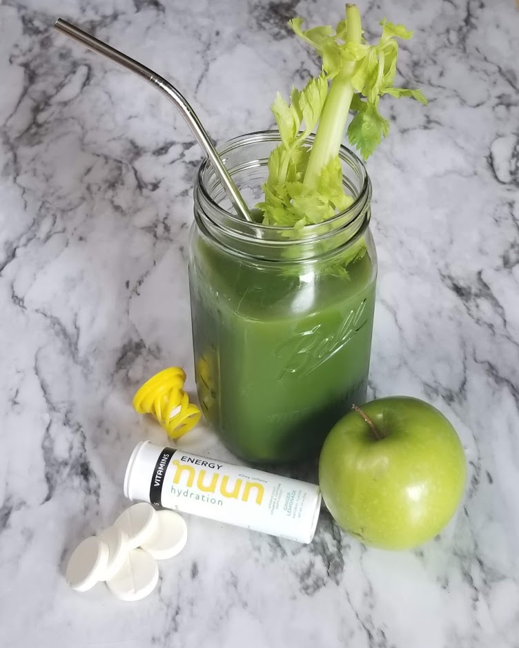 Ginger Lemon Green Juice with Nuun Hydration