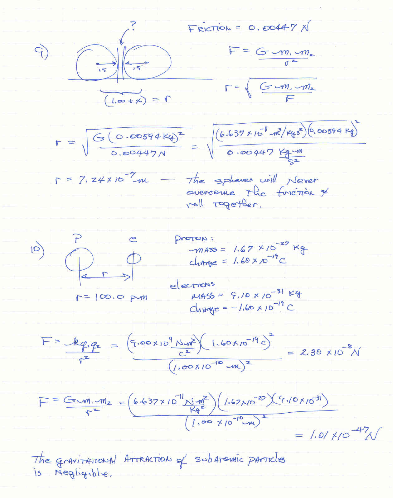 Worksheet Universal Law Of Gravitation