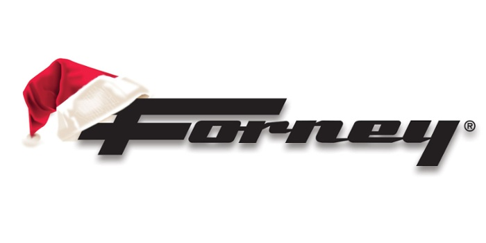 Forney logo with Santa hat