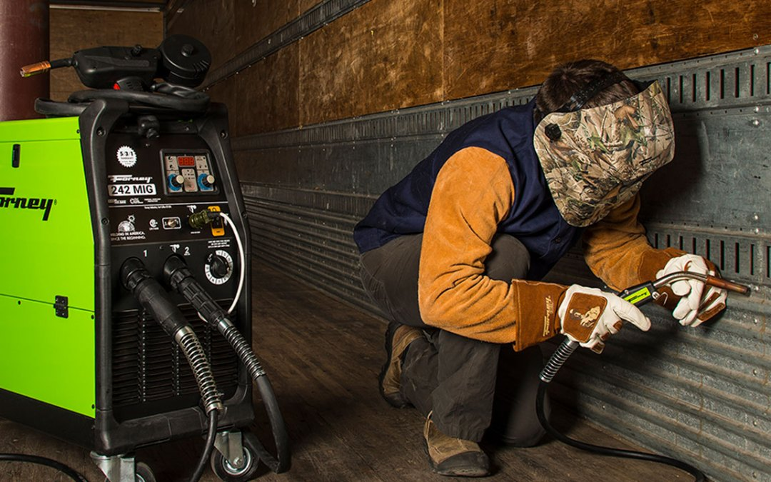 Forney 242 Dual MIG Welder In Use