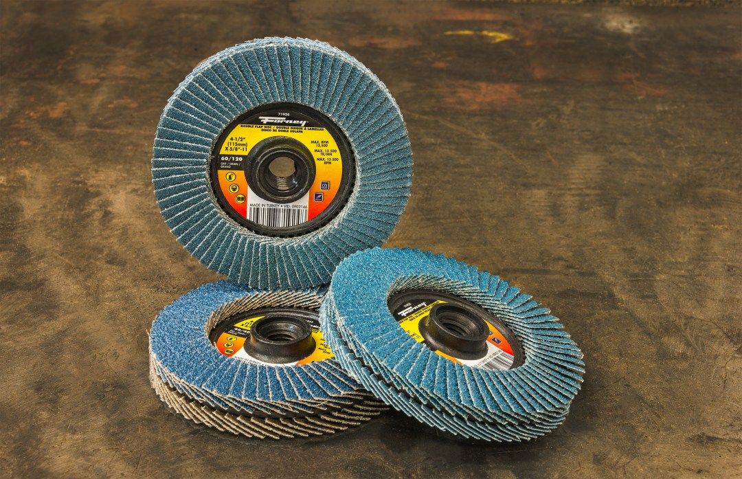 Forney Double Sided Flap Discs Group