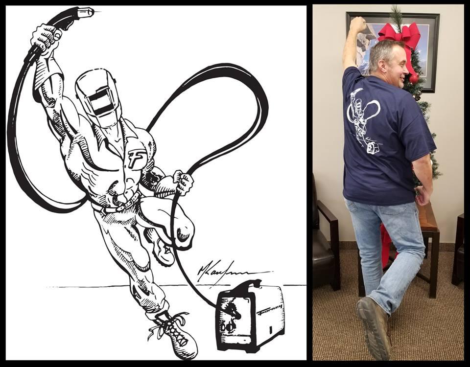 Matt and His Tshirt Drawing
