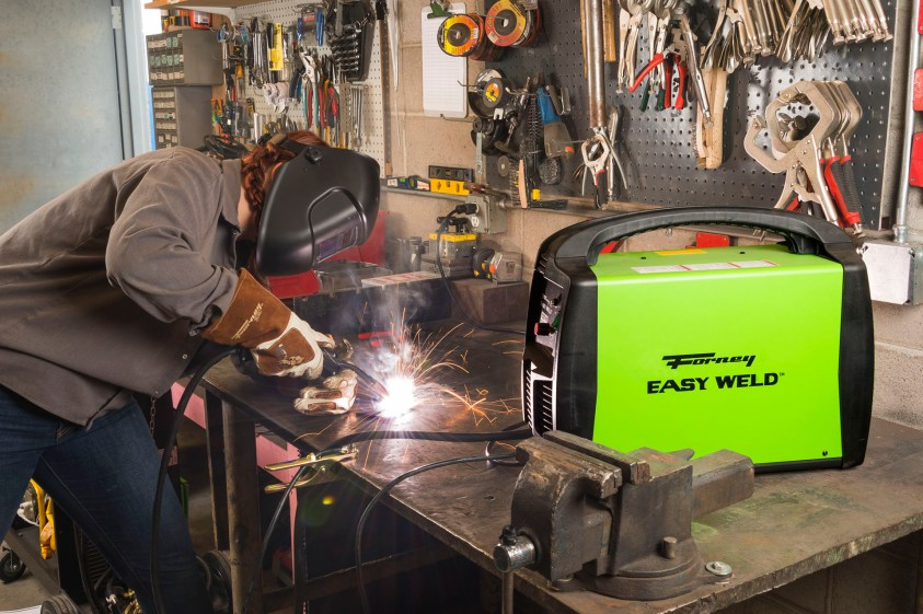 Forney Easy Weld 125 FC in Action