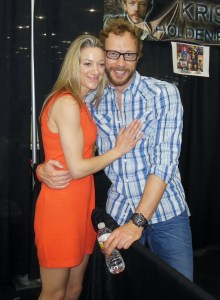 Kris Holden-Ried and Zoie Palmer at Comicpalooza 2013