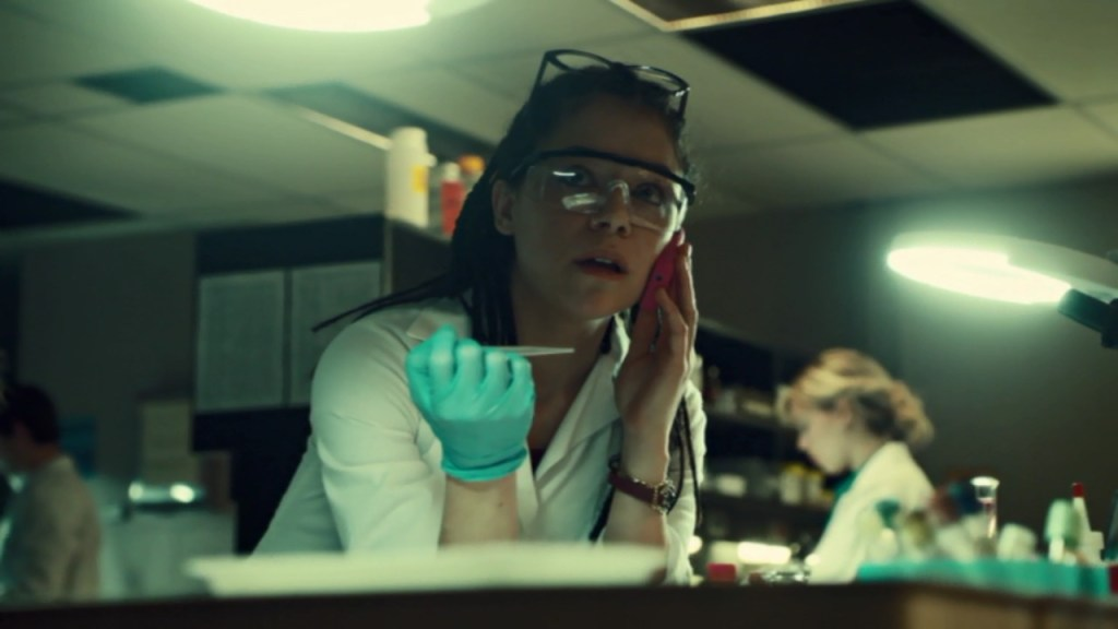 Cosima in lab in Orphan Black Season 1
