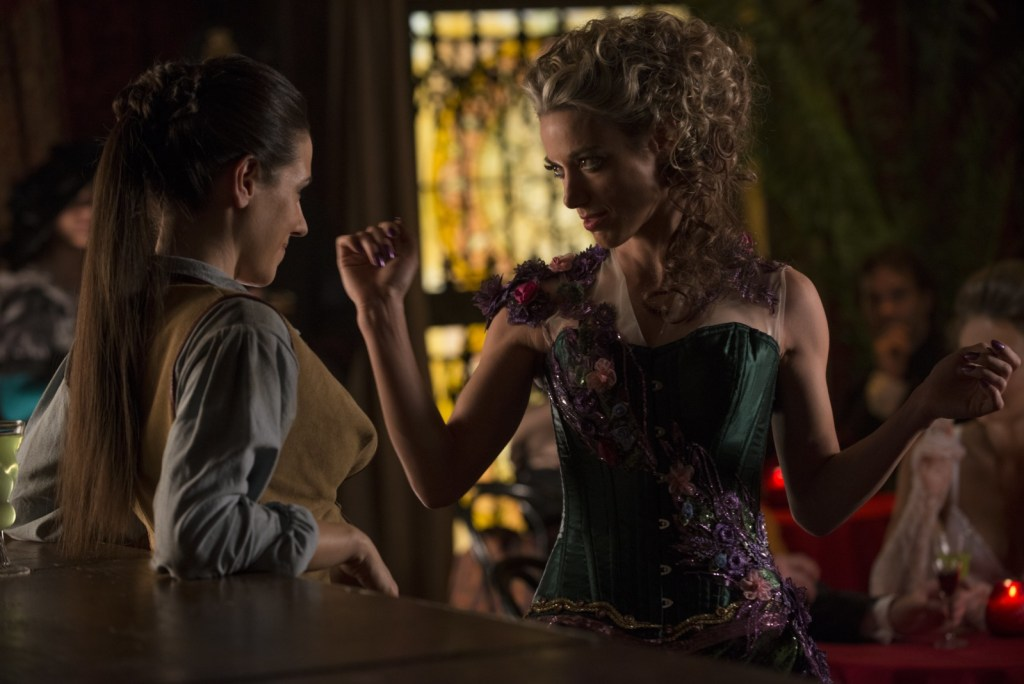 Lauren as Flora and Bo as Dyson in Lost Girl 4x07