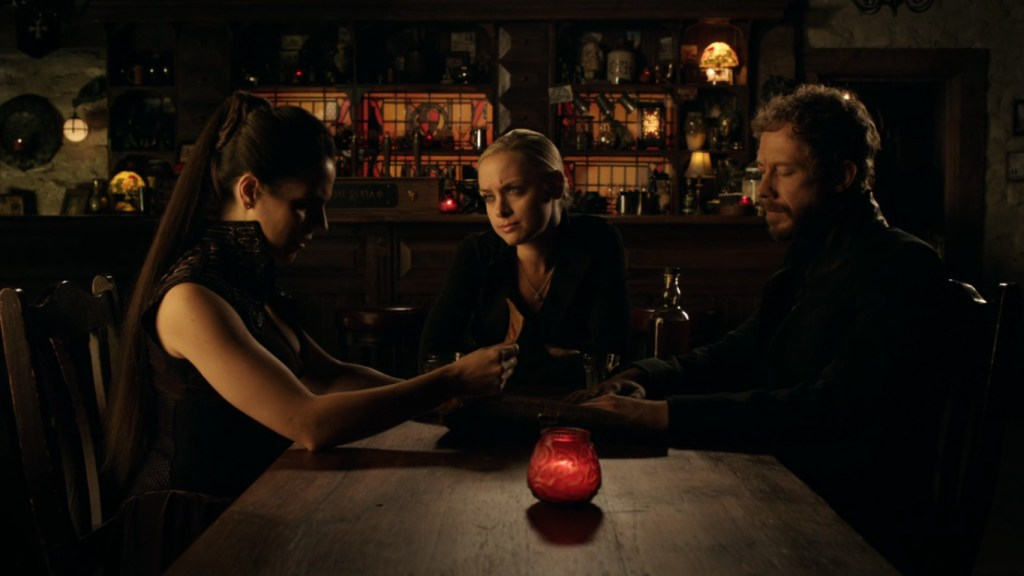 Bo Tamsin and Dyson sitting in The Dal in Lost Girl 4x12