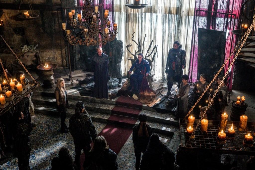 Lexa Titus Clarke in throne room in Thirteen