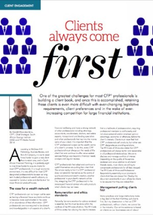 Clients come first article MrG