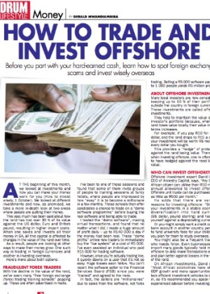 Forex Article MrG