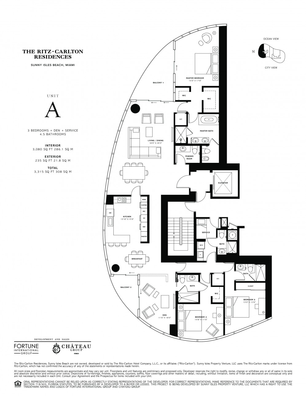 Residence 2801 Model A, Line 01 at The Ritz-Carlton