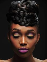 gorgeous black wedding hairstyles