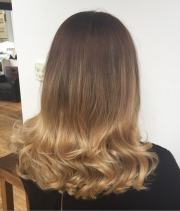 stylish ombre straight hair