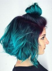 blue ombre hairstyles women