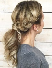 cute french braid ponytails