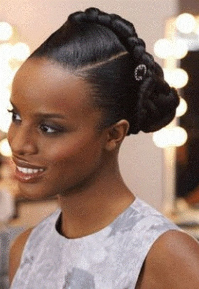 Sleek And Refined Hairstyle Natural Braided Hairstyles