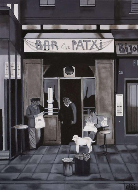 bar chez Patxi(100cmx73cm)1550€
