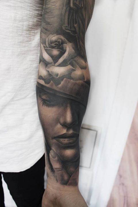 Portrait Sleeve Tattoos : portrait, sleeve, tattoos, Black, Portrait, Tattoo, Sleeve