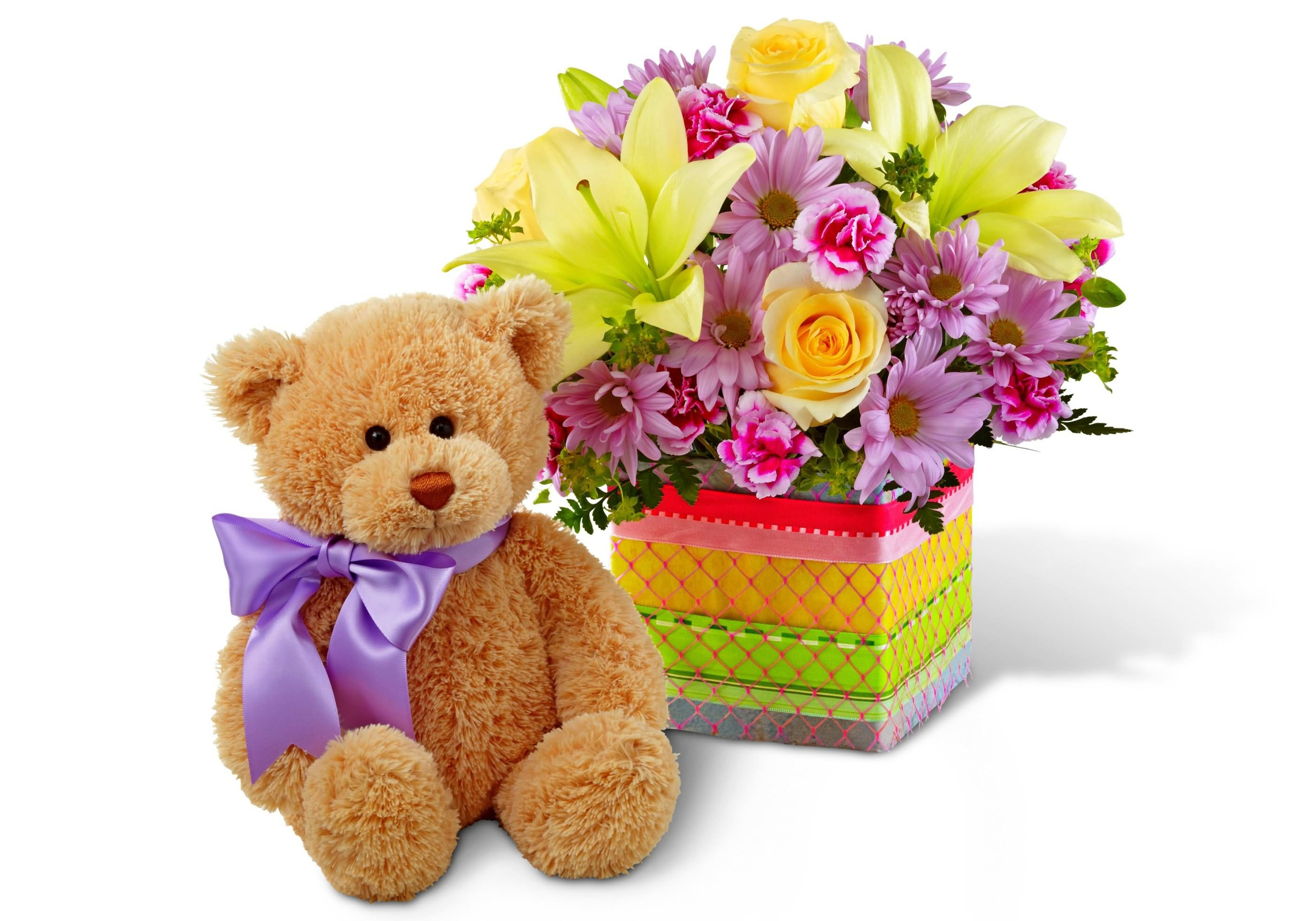22 Best Teddy Bear With Flowers Picture
