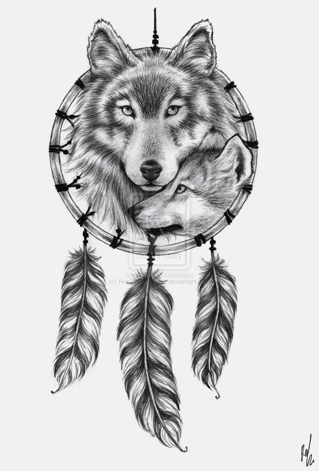 Wolf Dreamcatcher Drawing : dreamcatcher, drawing, Dream, Catcher, Drawing, Anime, Mania