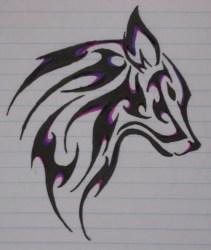 wolf tattoo tribal simple head nice tattooing