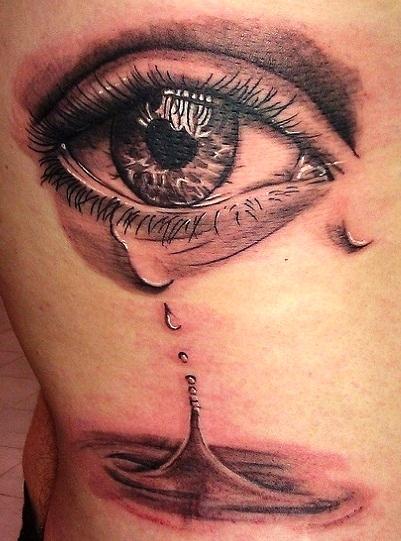 Crying Eye Tattoo : crying, tattoo, Blowing, Crying, Tattoos