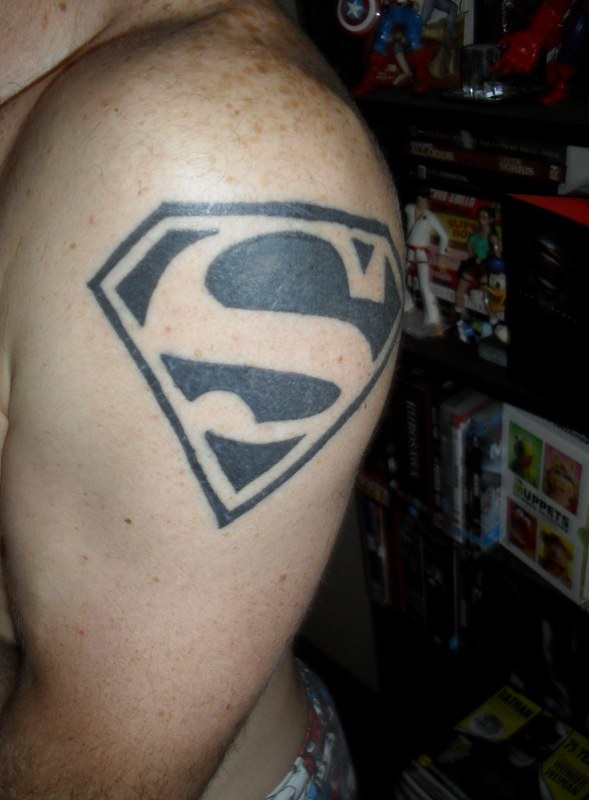 Black Superman Tattoo : black, superman, tattoo, Wonderful, Superman, Tattoos