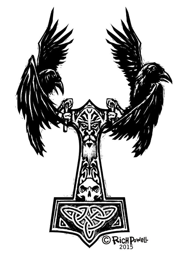Norse Raven Tattoos : norse, raven, tattoos, Amazing, Norse, Raven, Tattoo, Designs