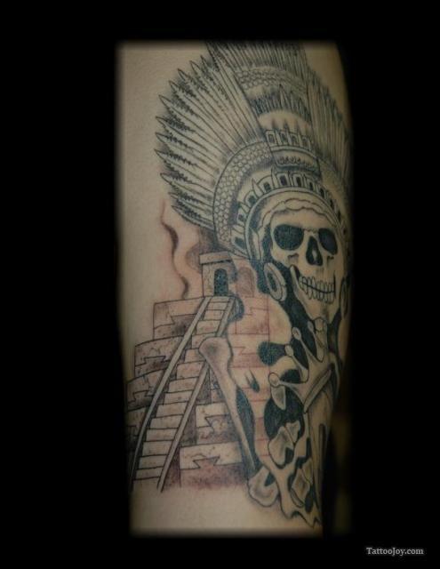 Aztec Pyramids Tattoo : aztec, pyramids, tattoo, Aztec, Pyramid, Tattoos