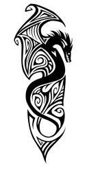 tribal forearm dragon tattoo tattoos wrap around