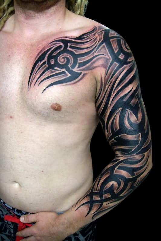 Tribal Tattoos Sleeves : tribal, tattoos, sleeves, Sleeve, Tribal, Tattoos