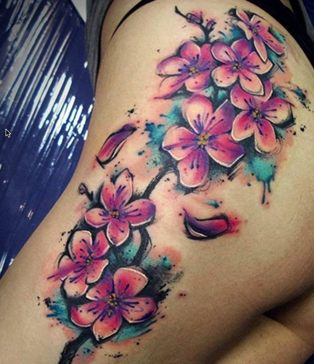 Flower Watercolor Tattoo  Flowers Ideas For Review