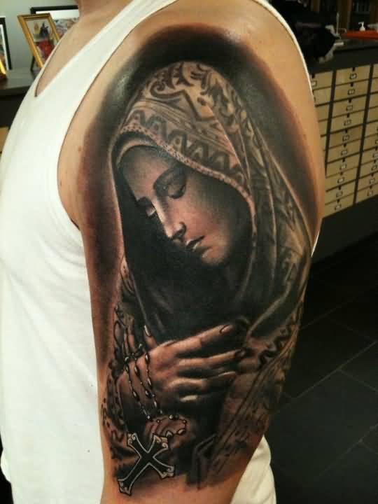 Catholic Tattoo Sleeve : catholic, tattoo, sleeve, Incredible, Catholic, Tattoos