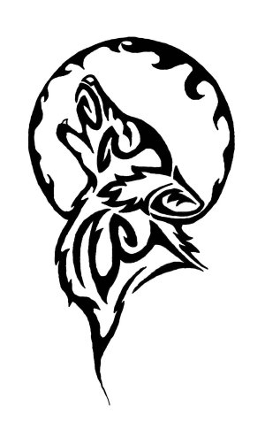 tribal wolf tattoo simple tattoos designs howling stencil circle drawings drawing native indian cool american moon wolves symbols animal outline
