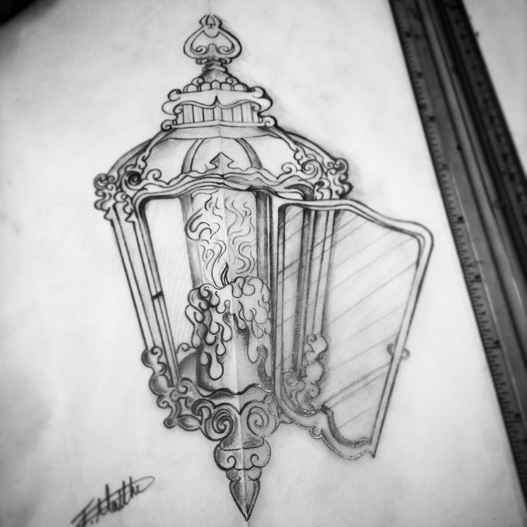 35 Antique Lantern Tattoos