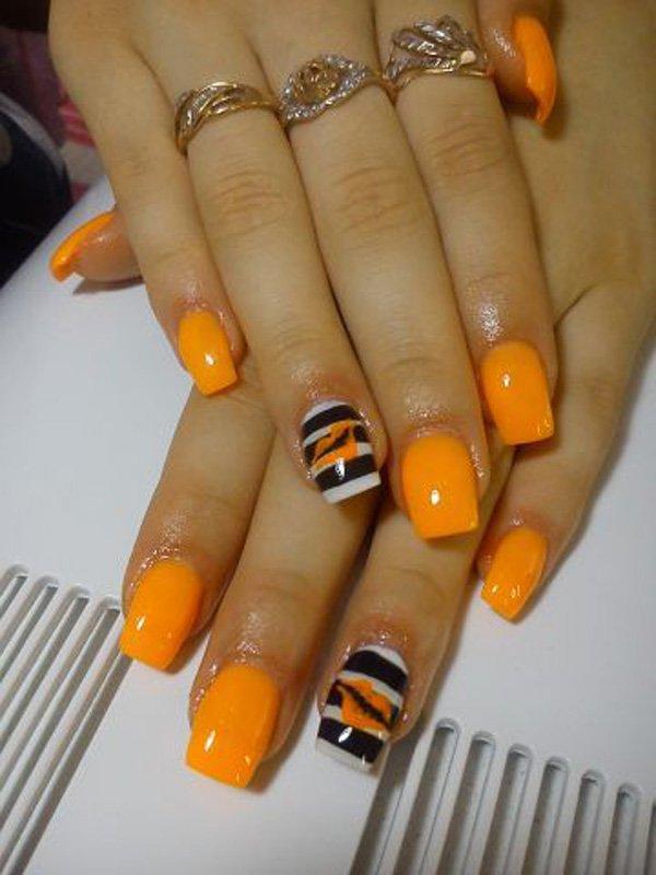 Orange And Black Nail Designs : orange, black, designs, Stylish, Orange, Black, Design, Ideas