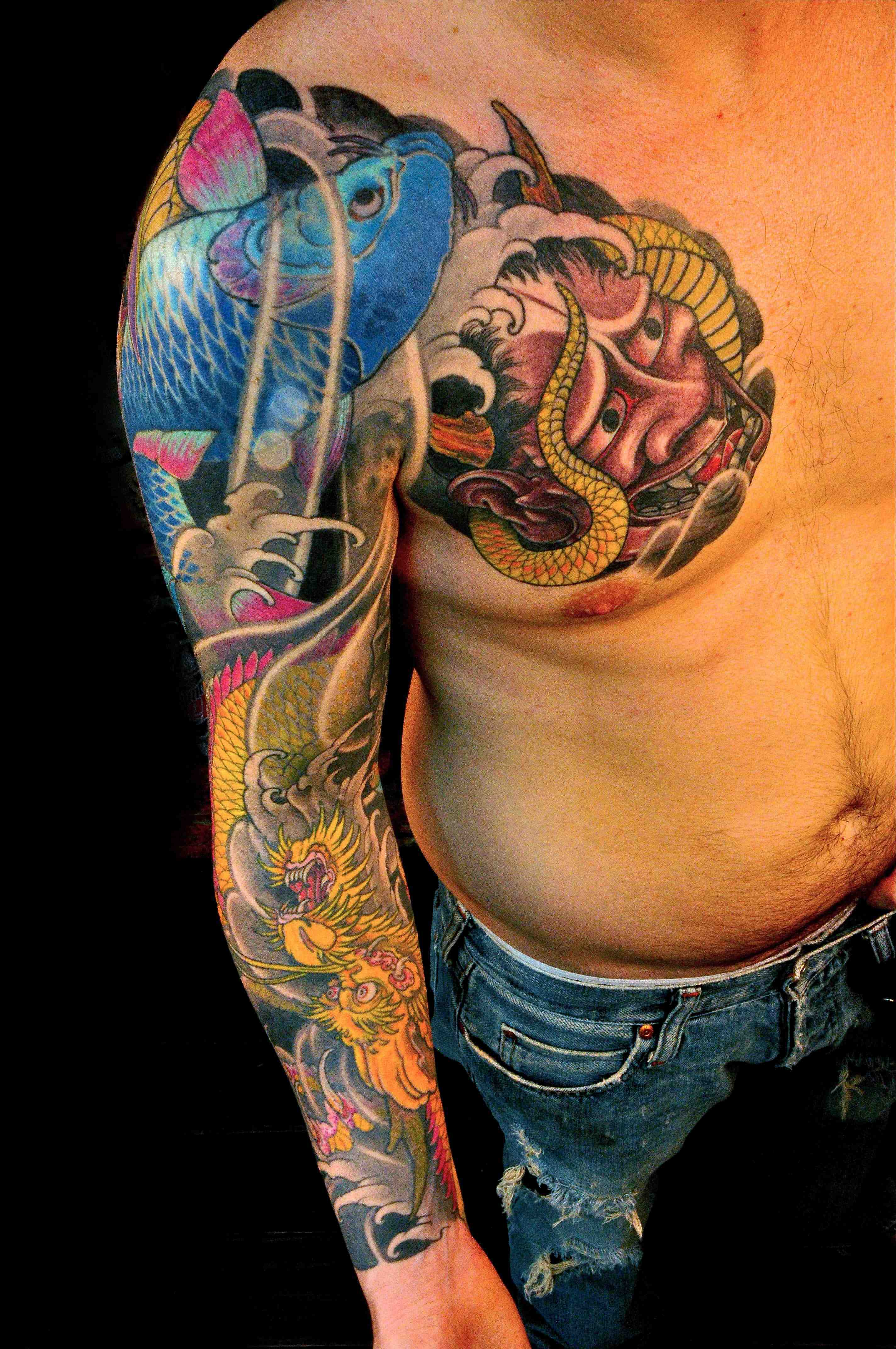Nunez Tattoos : nunez, tattoos, Chris, Nunez, Tattoo, Chest, Right, Sleeve