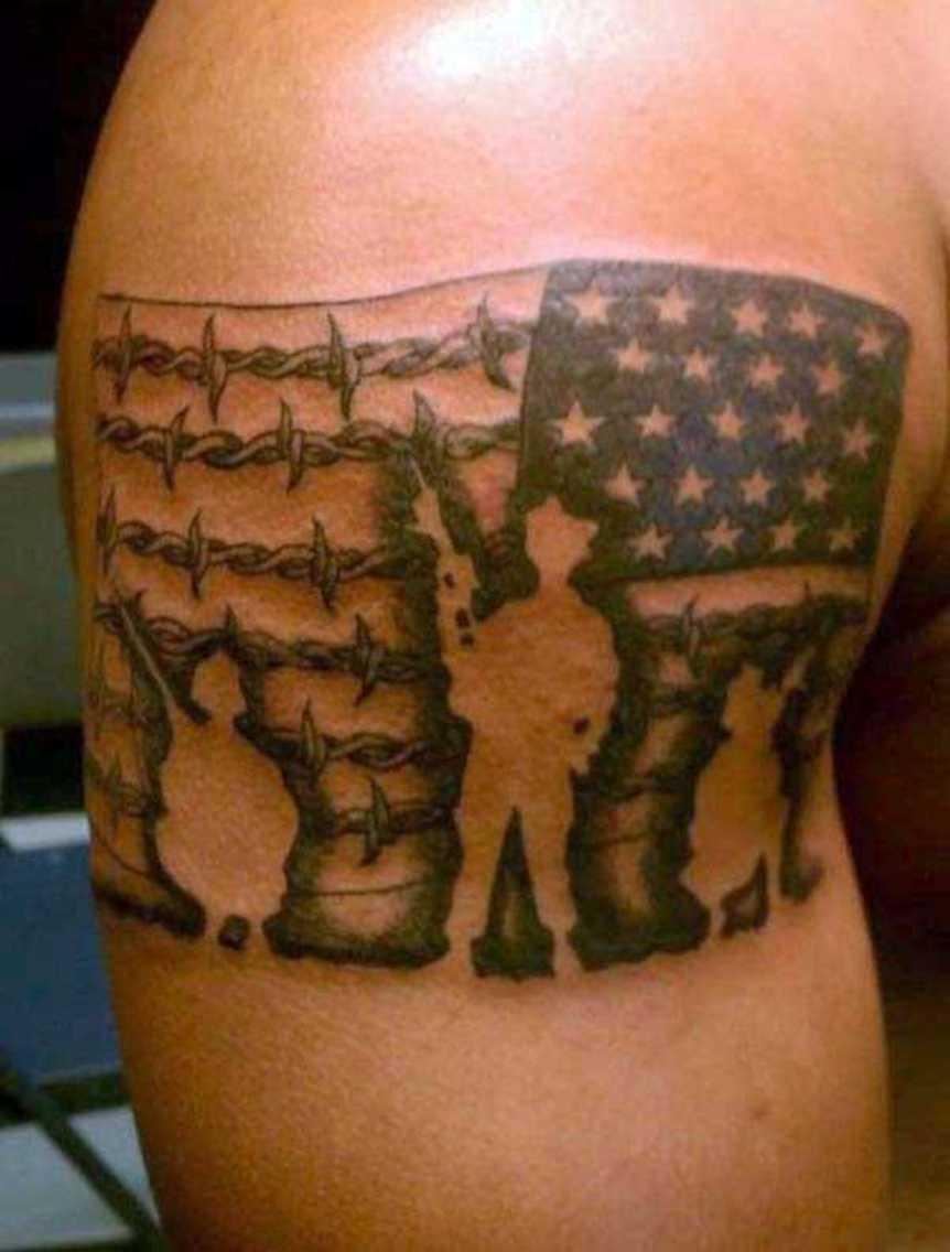 Patriotic Tattoos For Guys : patriotic, tattoos, Patriotic, Tattoos, Ideas