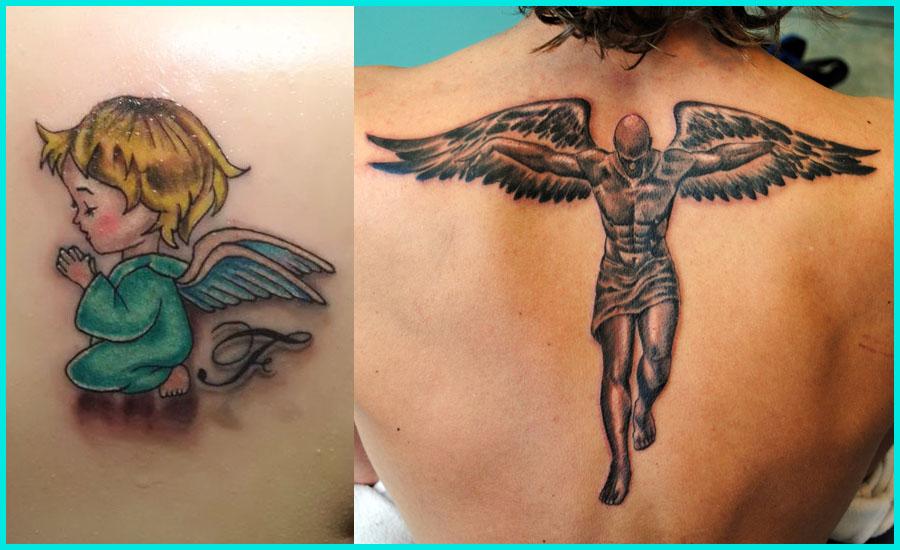 23+ Angel Tattoos On Back Body