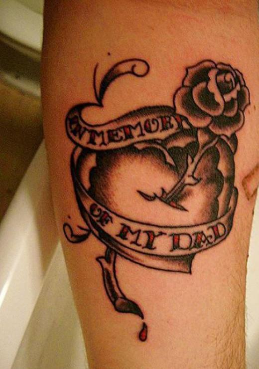 Dad Memorial Tattoo : memorial, tattoo, Memory, Memorial, Tattoo