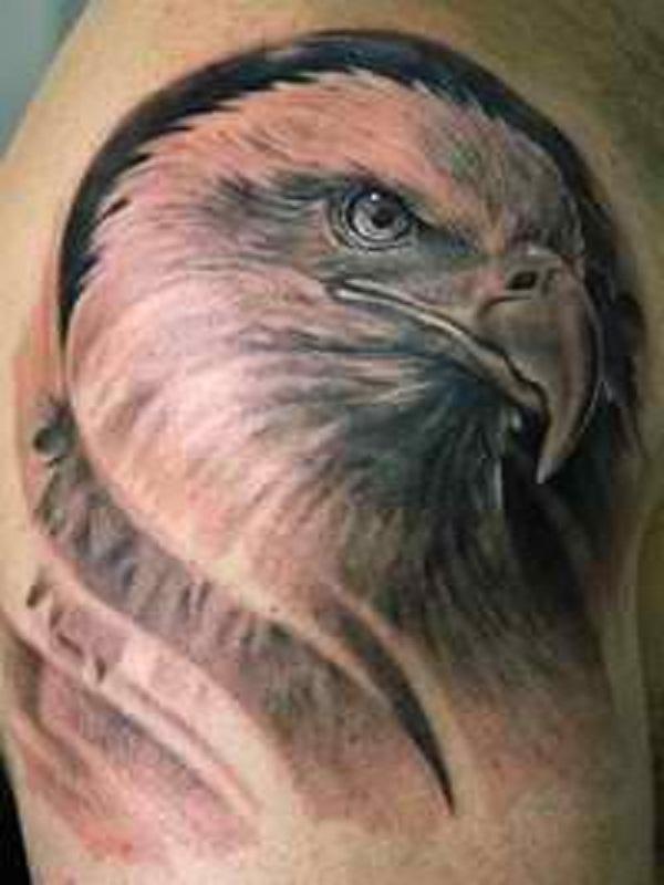 Eagle Tattoos On Shoulder : eagle, tattoos, shoulder, Eagle, Shoulder, Tattoos, Ideas, Meanings