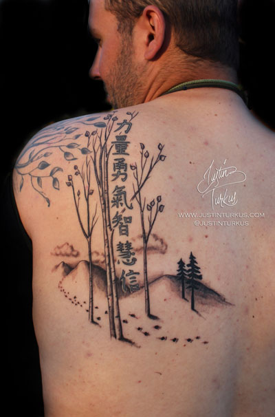 Chinese Tattoos For Men : chinese, tattoos, Chinese, Symbols, Birch, Tattoo, Shoulder