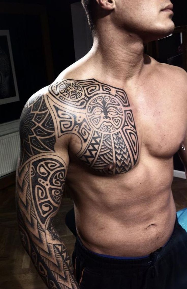 Half Chest Tattoos For Men : chest, tattoos, Chest, Tattoos