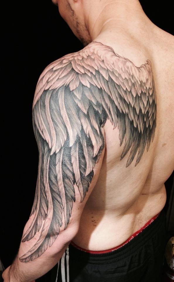 Angel Wings Sleeve Tattoos : angel, wings, sleeve, tattoos, Angel, Wings, Tattoos, Designs