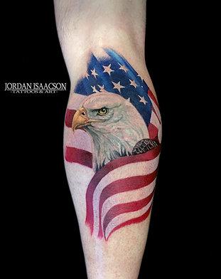 Bald Eagle And American Flag Tattoo : eagle, american, tattoo, Eagle, American, Tattoo, Forearm, Jordan, Isaacson