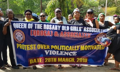 Election Violence: Queen's Old Girls Take Protest To Bishop Anagbe